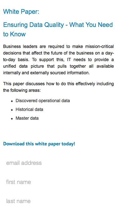 White Paper: Ensuring Data Quality - What You Need to Know