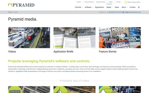Screenshot of Press Page pyramidcontrols.com - Media | Pyramid - captured Nov. 15, 2016