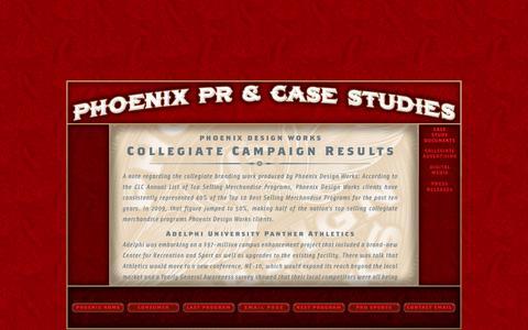 Screenshot of Case Studies Page phoenixdesignworks.com - Phoenix Design Works - Case Study Documents - captured Dec. 9, 2015