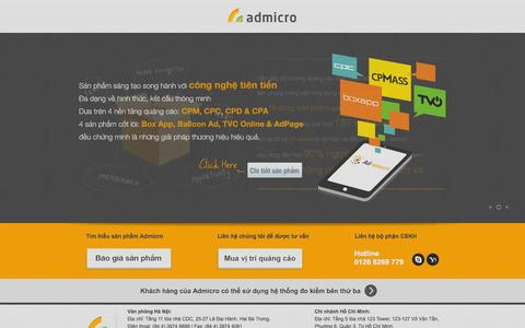 Screenshot of Home Page admicro.vn - Admicro Online Advertising – All targets in sight - captured Sept. 18, 2014
