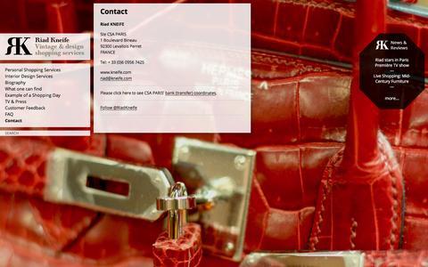 Screenshot of Contact Page kneife.com - Contact   Riad Kneife - captured Jan. 23, 2016