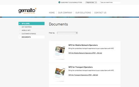 Screenshot of Products Page gemalto.com - Documents - Transport - Gemalto - captured Oct. 28, 2014