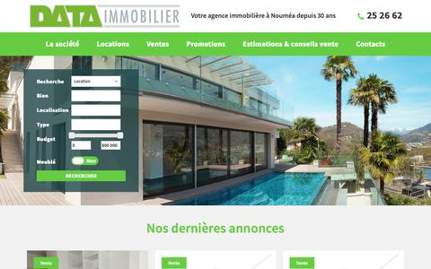 Screenshot of Home Page data-immobilier.nc - Data Immobilier - Data Immobilier - captured Oct. 28, 2018