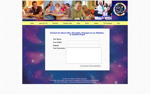 Screenshot of Contact Page dotellthegame.com - Contact Us – Social Games   Teenager Help   Relationship - captured Nov. 24, 2016