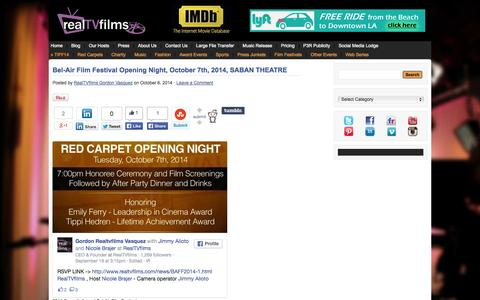 Screenshot of Blog realtvfilms.com - Filmmaker Interviews * Filmmaker Interviews from popular Film Festivals * Filmmaker Video Blog - captured Oct. 7, 2014