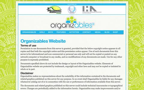 Screenshot of Privacy Page organizables.com - Copyrights | Terms of Use  | Organizables - captured Oct. 9, 2014