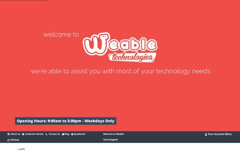 Screenshot of Home Page weable.co.za - Home of Weable.co.za - IT Online Shop - captured Sept. 5, 2015