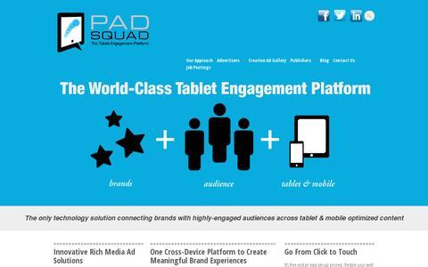 Screenshot of Home Page padsquad.com - PadSquad - captured July 11, 2014