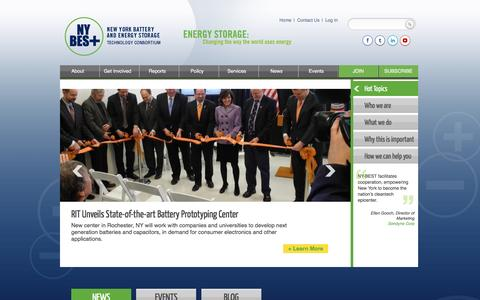 Screenshot of Home Page ny-best.org - NY-BEST | New York Battery & Energy Storage Technology Consortium - captured Dec. 1, 2016