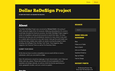 Screenshot of About Page wordpress.com - About | Dollar ReDe$ign Project - captured Sept. 12, 2014