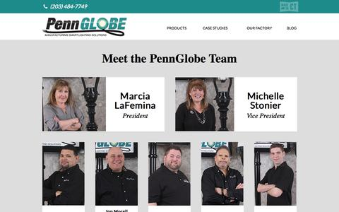 Screenshot of Team Page pennglobe.com - Our Team - captured Oct. 6, 2014
