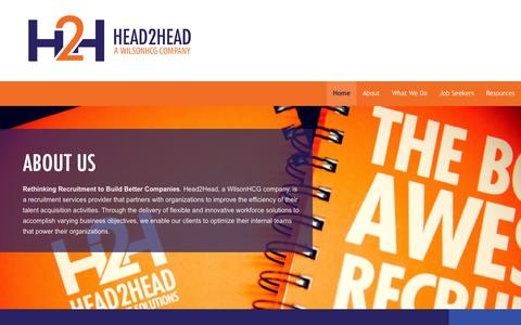 Screenshot of Home Page head2head.ca - About Us | Head2Head - captured June 17, 2015