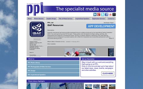 Screenshot of Home Page pplmedia.com - PPL - The Specialist Media Source - captured Sept. 23, 2014