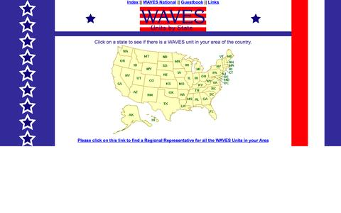 Screenshot of Locations Page womenofthewaves.com - WAVES Units across the U.S.A. - captured Oct. 27, 2014