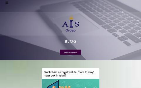 Screenshot of Blog ais-groep.nl - AIS-Blog - captured July 4, 2018