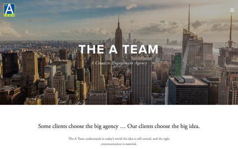 Screenshot of Home Page theateamagency.com - The A Team Agency - captured Nov. 4, 2017