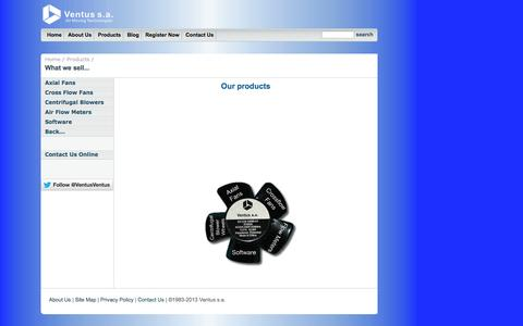Screenshot of Products Page ventus-sa.com - Ventus s.a. - captured Oct. 7, 2014