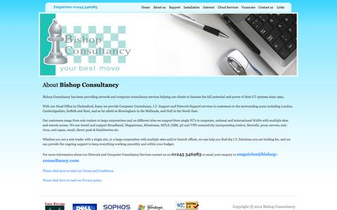 Screenshot of About Page bishop-consultancy.com - :: About Bishop Consultancy -- Network and Computer Consultancy Services :: - captured Oct. 5, 2014