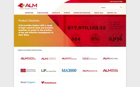 Screenshot of Products Page alm.com - Product Solutions | ALM - captured Sept. 23, 2014