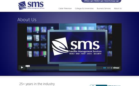 Screenshot of About Page smstv.com - About Us - SMS, Inc. - captured Oct. 4, 2014