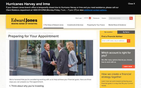 Our First Appointment   Edward Jones