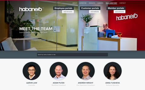 Screenshot of Team Page habaneroconsulting.com - Team Directory | Employees | Habanero Consulting Group - captured Nov. 4, 2014