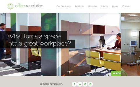 Screenshot of Home Page office-revolution.com - Office Revolution - Chicago's premier Teknion dealer - captured June 17, 2015