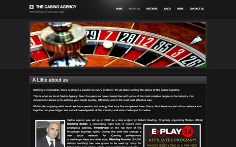 Screenshot of About Page thecasinoagency.com - About Us - The Casino Agency - captured Oct. 7, 2014