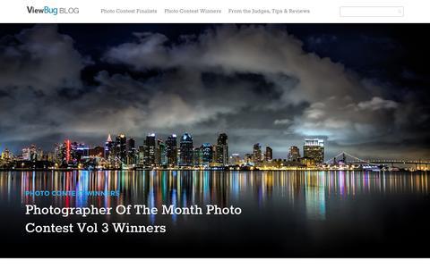 Screenshot of Blog viewbug.com - ViewBug's Blog - The World's Best Photo Contests - captured Sept. 18, 2014