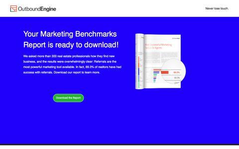 Screenshot of Landing Page outboundengine.com captured Sept. 2, 2017