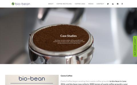 Screenshot of Case Studies Page bio-bean.com - Case Studies - bio-bean - captured Oct. 11, 2017