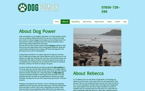 Screenshot of About Page dogpower.co.uk - About Us - Dog Power - captured June 4, 2017