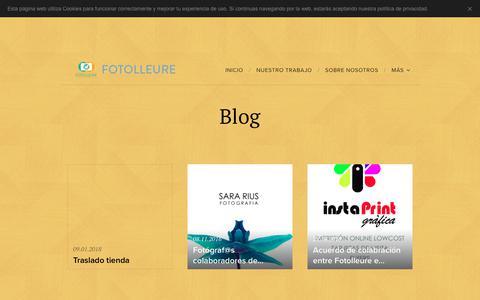 Screenshot of Blog fotolleure.com - Blog :: Fotolleure - captured Aug. 20, 2018