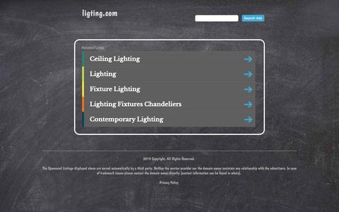 Screenshot of Home Page ligting.com - ligting.com - captured May 24, 2019