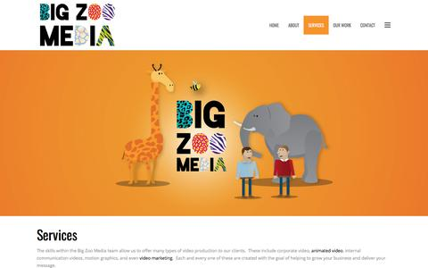 Screenshot of Services Page bigzoo.co.uk - Corporate Video And Animated Video Services | Big Zoo Media - captured Oct. 10, 2017