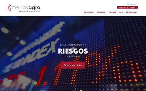 Screenshot of Home Page america-agro.com.ar - America Agro - Innovación Agropecuaria - captured Nov. 12, 2018