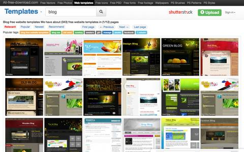 Screenshot of Blog all-free-download.com - Blog free website templates for free download about (343) free website templates. - captured Dec. 2, 2015