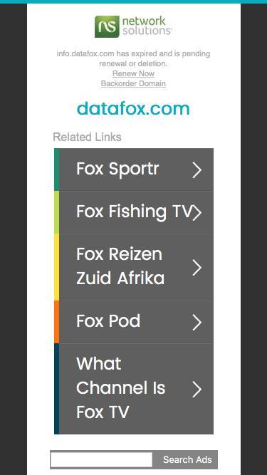 Screenshot of Landing Page  datafox.com - datafox.com