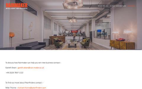 Screenshot of Contact Page intelligentnewbusiness.com - Contact — RAINMAKER | Intelligent New Business - captured Nov. 16, 2018
