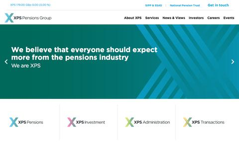 Screenshot of Home Page Site Map Page xpsgroup.com - Home - captured May 25, 2018