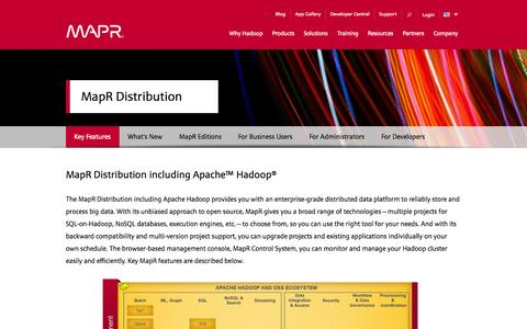 Screenshot of Products Page mapr.com - The MapR Distribution including Apache Hadoop | MapR - captured Oct. 27, 2014