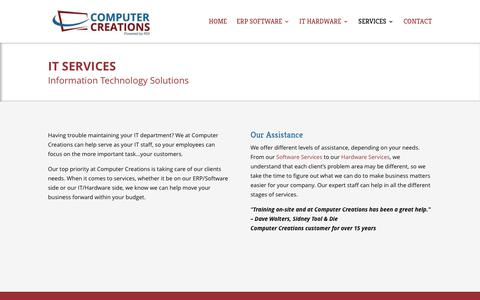 Screenshot of Services Page ccicreations.com - IT Services for Your Business from Computer Creations in Centerville, Ohio - captured Aug. 21, 2017