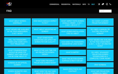 Screenshot of FAQ Page screeninnovations.com - FAQ | Projector Screens | Screen Innovations - captured Dec. 19, 2015