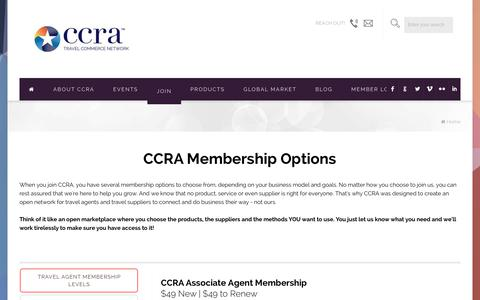 Screenshot of Signup Page ccra.com - Joining CCRA | Membership for Travel Agents and Suppliers - captured June 24, 2017