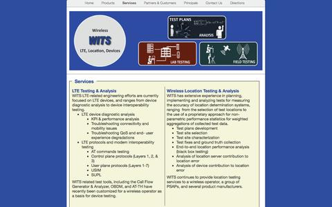 Screenshot of Services Page witscorporation.com - Services | WITS - captured Oct. 26, 2014