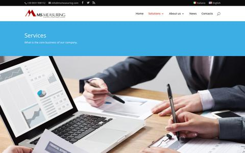 Screenshot of Services Page msmeasuring.com - Services | MS Measuring - captured July 26, 2018