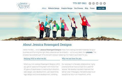 Screenshot of About Page jessicarosengard.com - About Us - Jessica Rosengard Design - captured Sept. 22, 2016