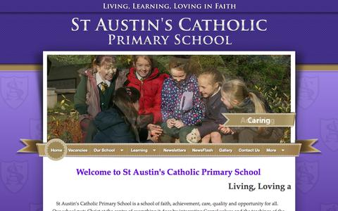 Screenshot of Home Page st-austins.wakefield.sch.uk - St Austin's Catholic Primary School - Home - captured June 21, 2015