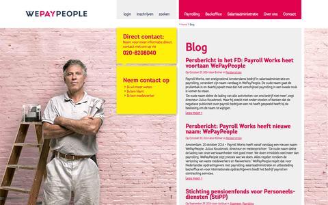 Screenshot of Blog wepaypeople.nl - Payroll Works Blog - WePayPeople - captured Oct. 28, 2014