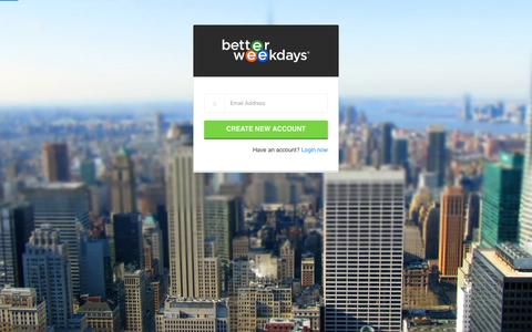 Screenshot of Signup Page betterweekdays.com - User account | Better Weekdays - captured Dec. 4, 2015